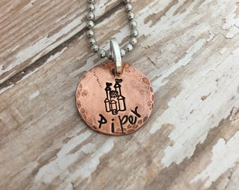 Custom name necklace, hand stamped name necklace, princess jewelry, princess castle charm, Personalized princess jewelry,