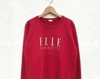 20% OFF Vintage Elle Planete Big Logo Sweatshirt/Elle Sport Sweater/Elle Spell Out Shirt/Elle Big Logo