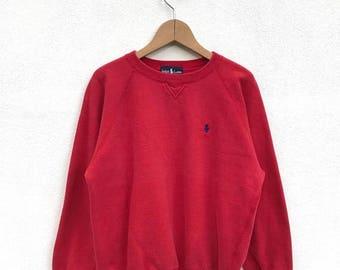 20% OFF Vintage Polo Ralph Lauren Small Pony Sweatshirt / Ralph Lauren Sweater / Polo Sport