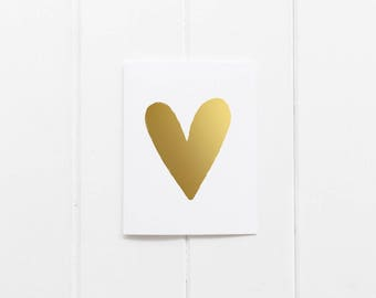 Gold Foil 'Heart' Greeting Card