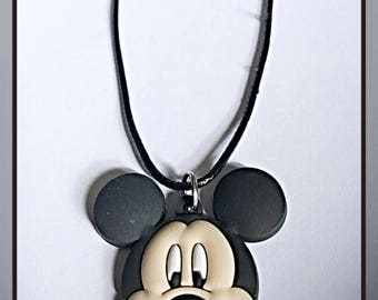 Kids Cute Mickey Mouse Face Pendant Necklace ON SALE