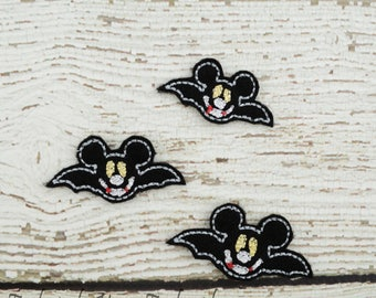 Bat Mouse Feltie Set of 4 - Hair Bow Supplies - Clippie Cover - Badge Reel Cover - Craft Supply - Scrapbooking - Card Making - Planner Clip
