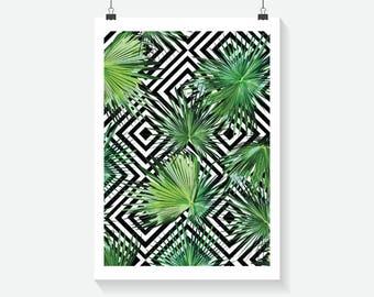 Tropical Art Deco Print - Home Decor - Hippie Art Print -  Art Print - Summer Print- Floral Print- Supernatural