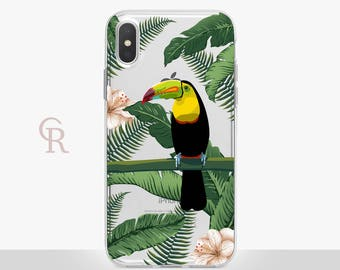 Toucan iPhone X Clear Case For iPhone 8 iPhone 8 Plus - iPhone X - iPhone 7 Plus - iPhone 6 - iPhone 6S - iPhone SE - Samsung S8 - iPhone 5