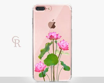 Floral iPhone 7 Clear Case For iPhone 8 iPhone 8 Plus - iPhone X - iPhone 7 Plus - iPhone 6 - iPhone 6S - iPhone SE - Samsung S8 - iPhone 5