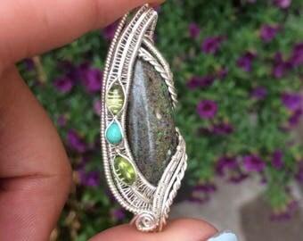 Opal Sterling Silver Pendant