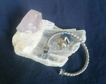 Crystal Clearing Selenite Slab - Cleansing Positive Energy for Rocks Gems and Jewelry