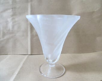 French Frosted Glass Vase