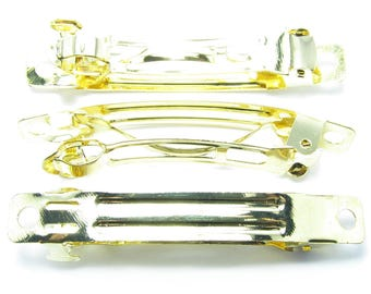 SUPPORT 50mm gold hair claw clip