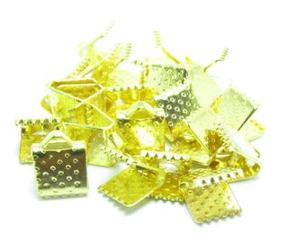 6x7mm claw CACHE gold METAL ribbon bow