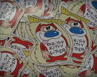 "Ren & Stimpy ""Gritty Kitty"" Sticker"