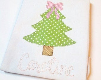 Christmas Tree With Bow Tee