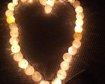 Pickleball Lights, Pickleball Party lights, 11' Long, 34 Lights, Patio Lights, Upcycled Pickball Decor, Festive Lights, Pickeballer Gift