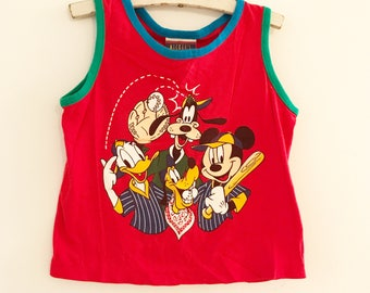 Vintage Mickey Mouse red baseball Sleeveless shirt size 3T