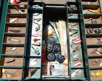 Park Tackle Box w/ Vintage Fishing Tackle