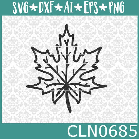 CLN0685 Leaf Fall Hand Drawn Fall Autumn Element Harvest SVG DXF Ai Eps PNG Vector Instant Download Commercial Cut File Cricut Silhouette