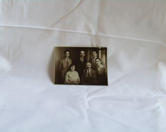 antique black and white family photo, Black and white photo, Antique photo, vintage photo, found photo, collectible photo, European photo.