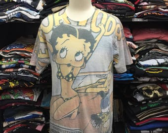 Vintage 90s Betty Boop Allover Print Tshirt