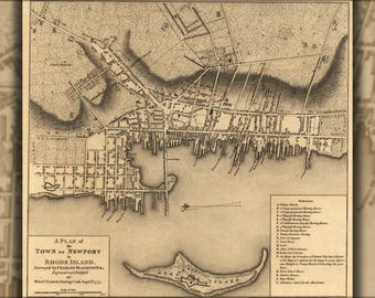 Poster, Many Sizes Available; Revolutionary War Map Of Newport, Rhode Island, 1777