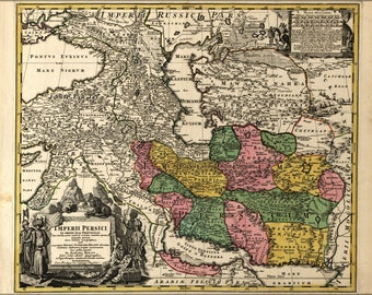 Poster, Many Sizes Available; Map Of Persia Iran 1724