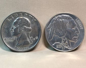 "Set of 3"" Replica US Quarter and Nickel Coins Paperweight or Coaster"