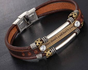 Genuine Leather Cuff Wristband