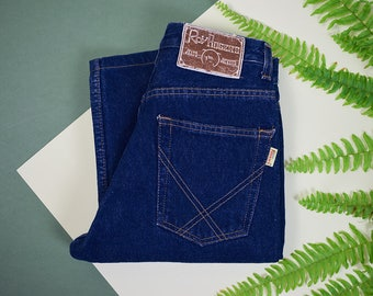 "Vintage High Waist Jeans Size 28"", Medium Mom Jeans, Size S 80s Roy Rogers Jeans, Vintage Denim, 80s Jeans, Blue High Waist Boot Cut Jeans"