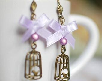 The caged bird sings - earrings