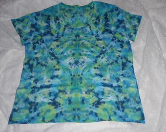 Ladies hand dyes cotton t shirt