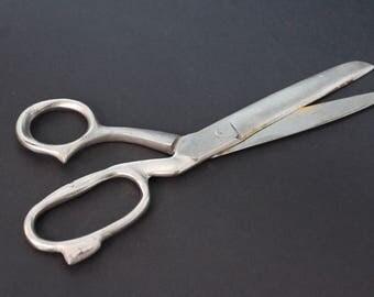 Scissors ussr Old Vintage Russian Scissors Large Metal Scissors collectibles Scissors 1970s metal shears