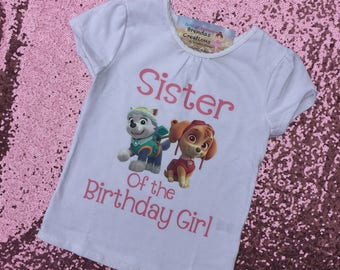 Paw patrol birthday shirt, Skye birthday shirt - Paw patrol sister shirt -paw patrol birthday outfit - skye birthday outfit , skye birthday