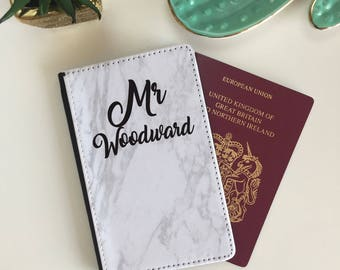 Personalised Pair of His n Her Passport Wallet Covers - Wedding Gift - Anniversary Gift - Couples Travel
