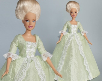 Barbie clothes -  rococo gown - handmade