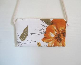 Yellow flower clutch spring purse - bag - shoulder