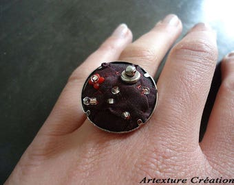 Textile ring bordeaux/REF BA8