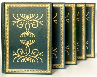 International Collectors Library, Old Books, Books for Decorating, Classic Book Set, Decorative Books, Instant Library, Green Book Set