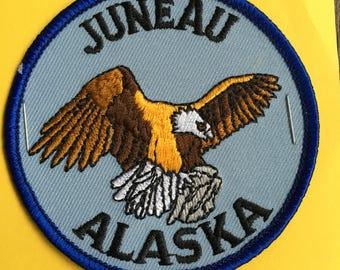 Juneau Alaska Vintage Souvenir Travel Patch from IAAC in Seattle WA