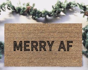 Merry AF|Doormat