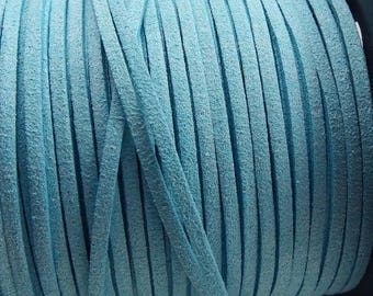Suede turquoise 3mm by 2 meters