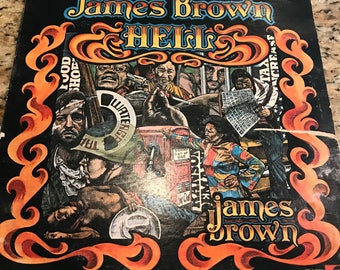 "James Brown ""Hell"" LP, 1974, vintage R&B vinyl, classic 70s soul music"