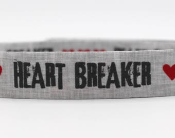 Heart Breaker Dog Collar, Heartbreaker Dog Collar, Hipster Dog Collar, Custom Dog Collar, Wedding Dog Collar, Large Dog Collar, Small Dog
