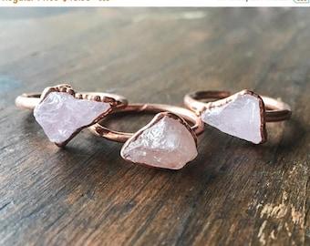 ON SALE Morganite Ring   Raw Morganite Ring   Raw Stone Ring   Morganite Ring   Electroformed Jewelry   Crystal Ring   Pink Stone Ring  