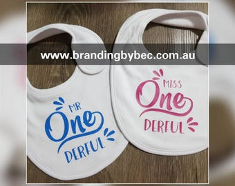 Mr/Miss 'ONE'derful Wonderful Baby Bib