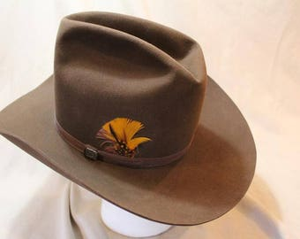 Resistol High Sierra Cowboy 3X Beaver Fur Felt Sorrel Brown Western  Hat 7 1/8 (57 cm) Self Conforming
