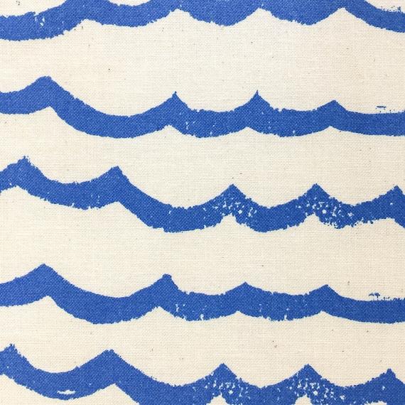 Boppy Cover - KUJIRA Waves in Cobalt - MADE-to-ORDER - Boppy Lounger Nursing Pillow blue waves boppy, blue ocean boppy, gender neutral boppy