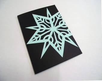 A6 Hand Cut Snowflake Christmas Card