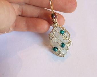 Fancy Decorative Sea Glass Necklace