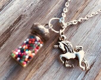 Unicorn & Sprinkles Necklace