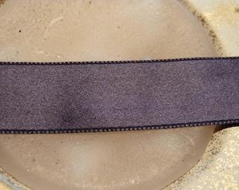 Vintage dove grey 1 m x 2 cm satin ribbon