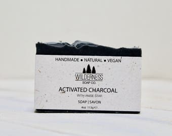 Activated Charcoal Soap, Natural Soap, Vegan Soap, Palm Free Soap, Handmade Soap, Cold Process Soap